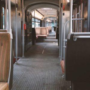 photo de l'intérieur du tram 51 de Bruxelles