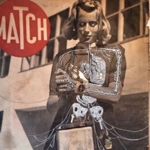 collages de Matteo Hinant sur magazines des années 40 et 50