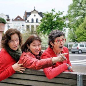 Photo de Sophie Clerfayt, Hélène Bardot et Christine Métrailler par Novella de Giorgi