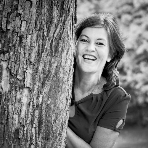 Photo noir et blanc de Christine Andrien par Novella de GiorgiNovella de
